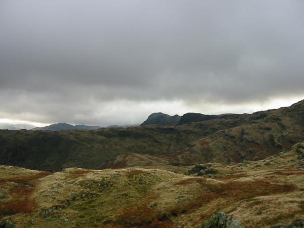 Harrison Stickle and Pavey Ark from Tarn Crag
