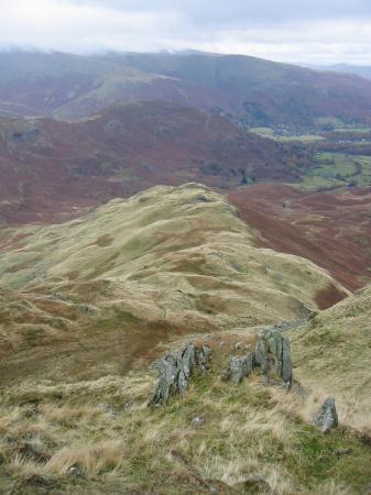 Looking down Tarn Crag's east ridge