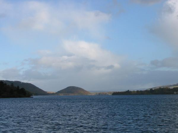 Looking down Ullswater to Dunmallet