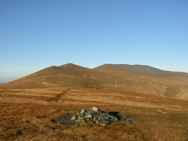 Skiddaw Little Man and Skiddaw from Lonscale Fell summit