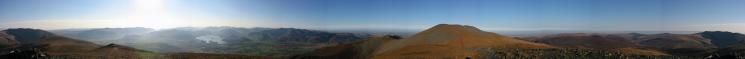 360 Panorama from Skiddaw Little Man's summit