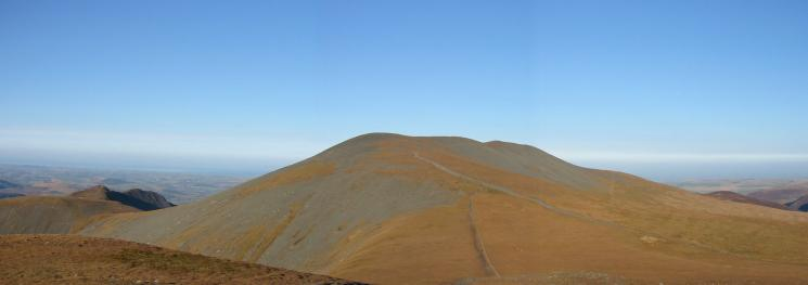 Skiddaw from Little Man with Carl Side, Long Side and Ullock Pike on the left