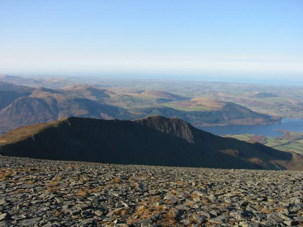 Long Side, Ullock Pike and Bassenthwaite Lake from Skiddaw