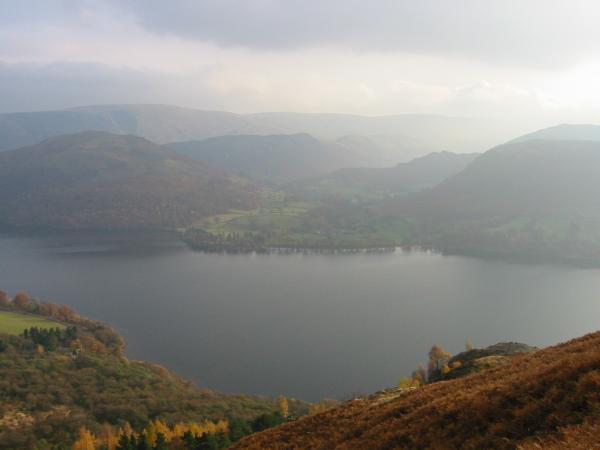 Hallin Fell and Sandwick seen across Ullswater