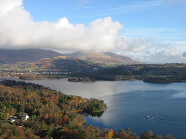 Derwent Water with cloud on the top of Blencathra