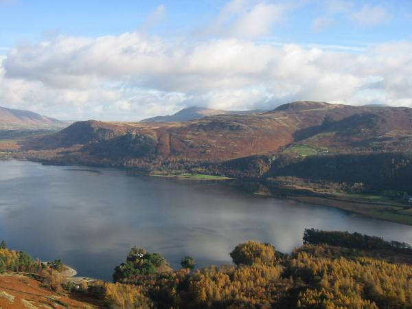 Walla Crag and Bleaberry Fell from Catbells summit