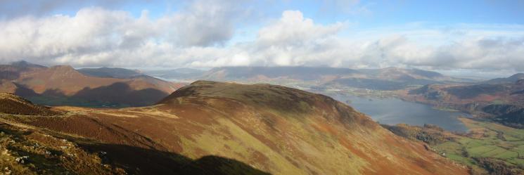 Maiden Moor from Blea Crag Cairn