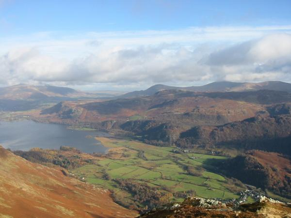 Borrowdale from Blea Crag Cairn