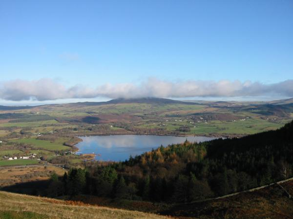 Binsey and the north end of Bassenthwaite Lake from high up Sale Fell