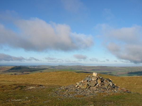 Looking north towards Scotland from Sale Fell summit