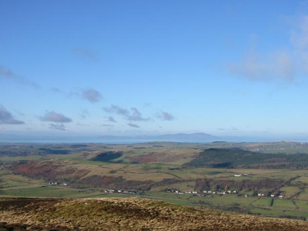 Criffel across the Solway Firth from Ling Fell's summit