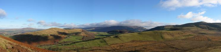 Easterly panorama from the descent off Ling Fell