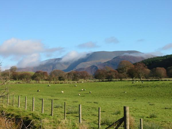 Skiddaw from the Wythop Valley