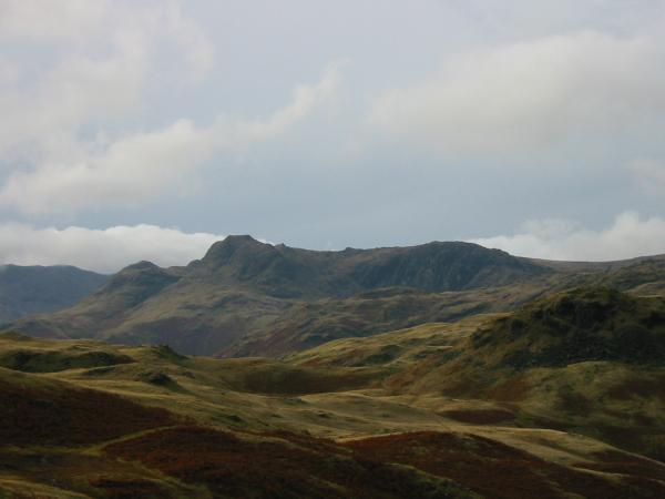 The Langdale Pikes from near the summit of Silver How