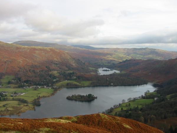 Rydal Water and Grasmere from the summit