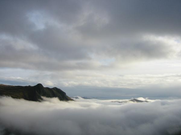 Lingmoor Fell peaks out