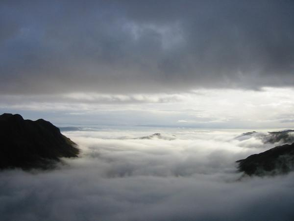 The cloud inversion from Rossett Pike