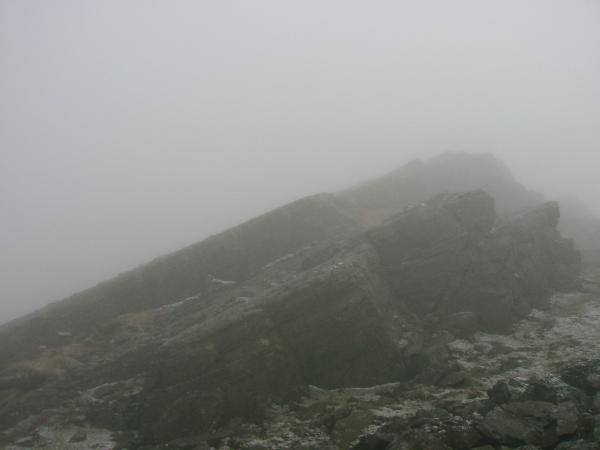 The top of The Great Slab, Bowfell