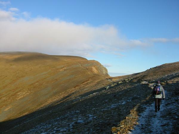 Heading for Helvellyn's summit