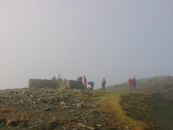 Helvellyn's summit shelter