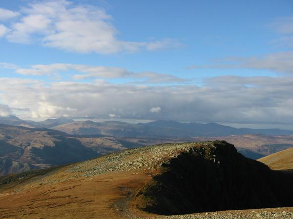 The north western fells from Dollywaggon Pike