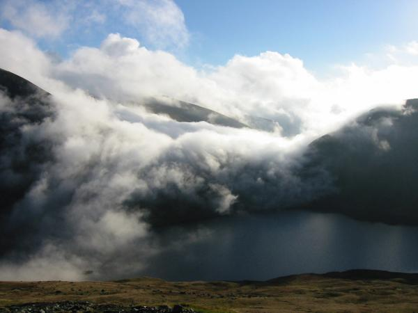 Grisedale Tarn from the Dollywaggon zig-zags