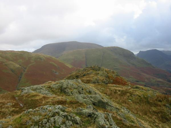 High Snockrigg and Robinson with Honister Crag / Fleetwith Pike on the right