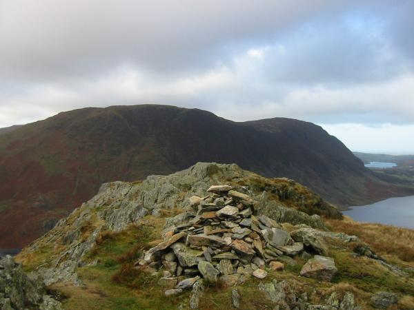 Mellbreak from the summit of Rannerdale Knotts