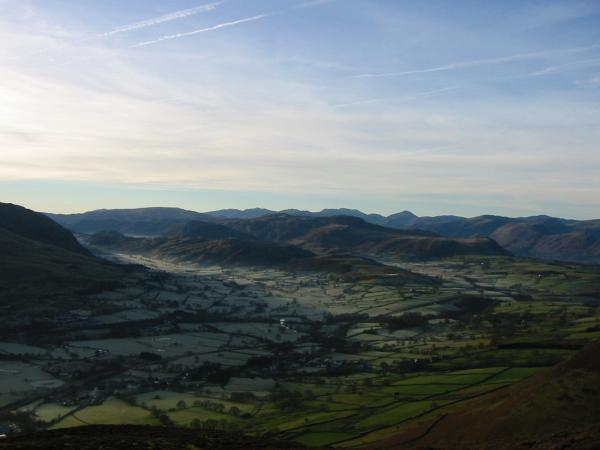 St. John's in the Vale and the high central fells of Lakeland