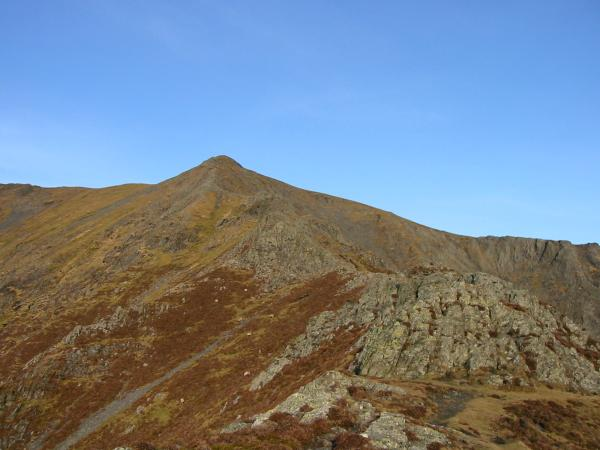 Hall's Fell Ridge leads directly to the summit of Blencathra