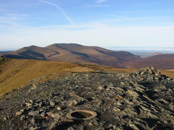 Skiddaw from Blencathra's summit