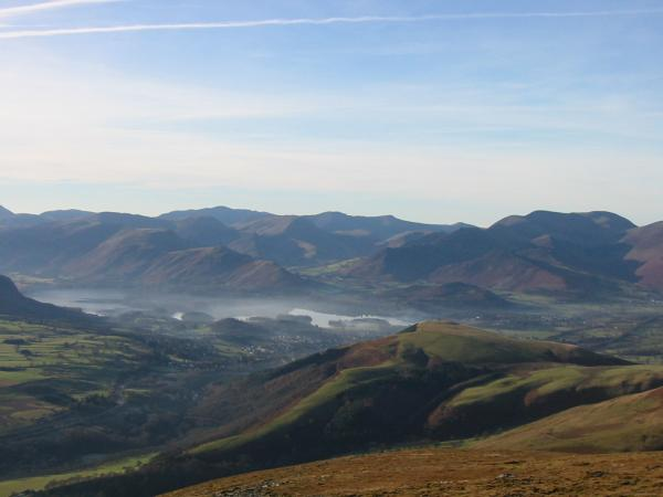 Latrigg, Derwent Water and the north western fells from the descent off Blease Fell