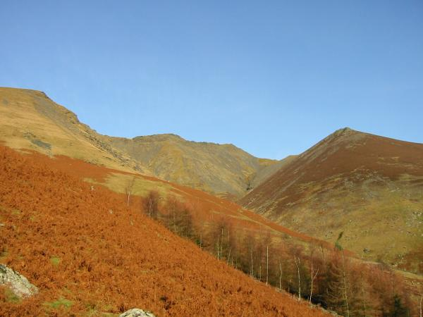 Blease Gill and Gategill Fell on the right