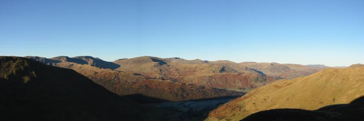 Fairfield, Saint Sunday Crag and the Helvellyn range from Gray Crag's northern ridge
