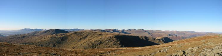 Westerly panorama from Thornthwaite Crag's summit