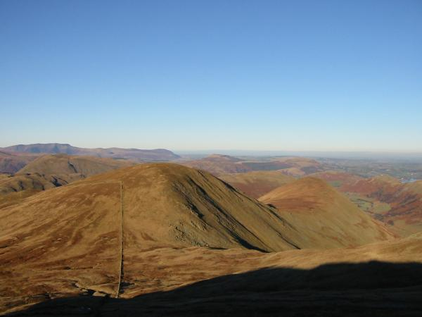 Rest Dodd and The Nab from The Knott with Blencathra in the distance on the left