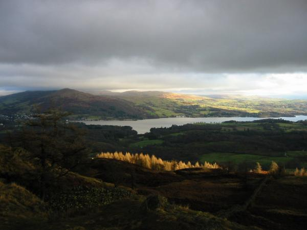 Windermere with Ambleside on the far left