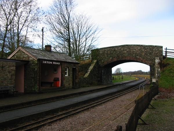 Irton Road Station on the Ravenglass and Eskdale Railway