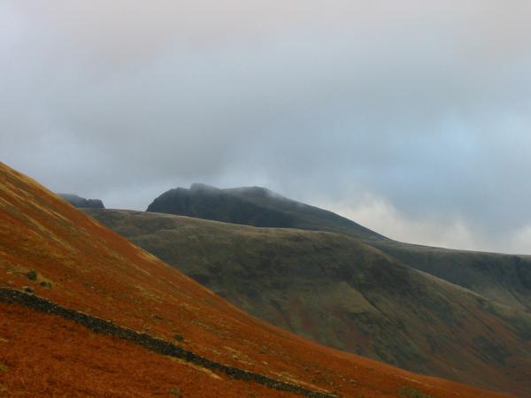Scafell briefly out of the cloud