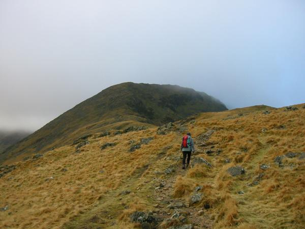 Heading for Pillar from the pass