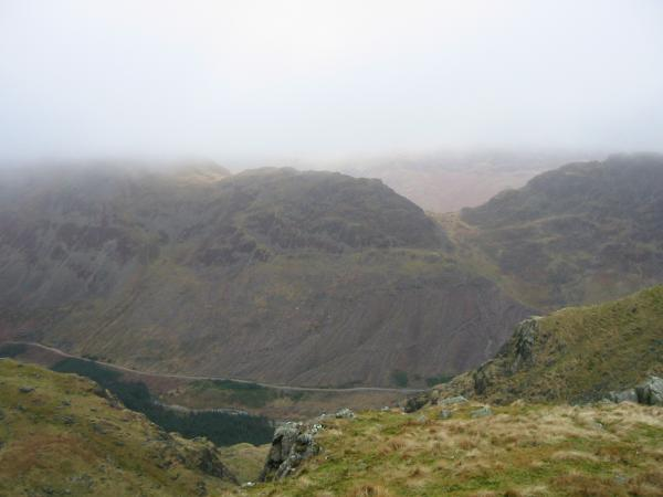 Looking across Ennerdale to Seat and Scarth Gap