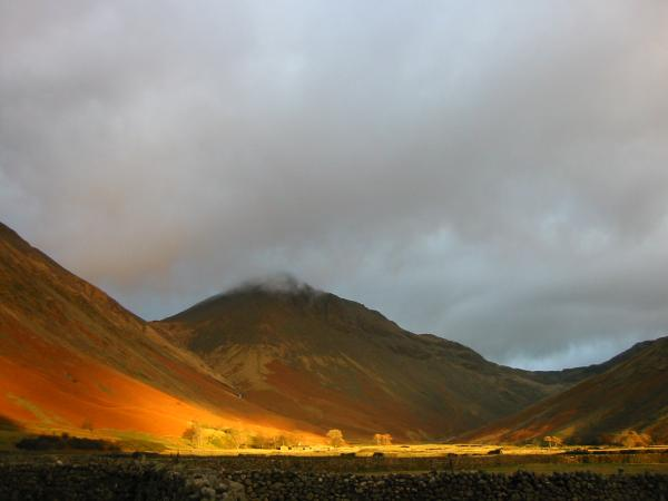 Great Gable at sunset