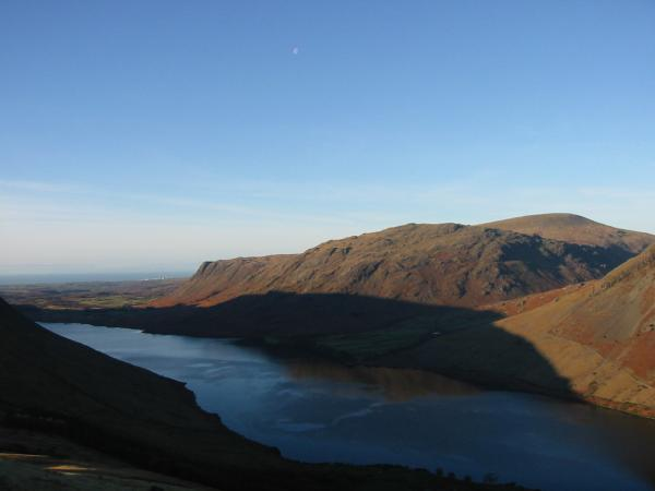 Looking over Wastwater to Buckbarrow, Middle Fell and Seatallan