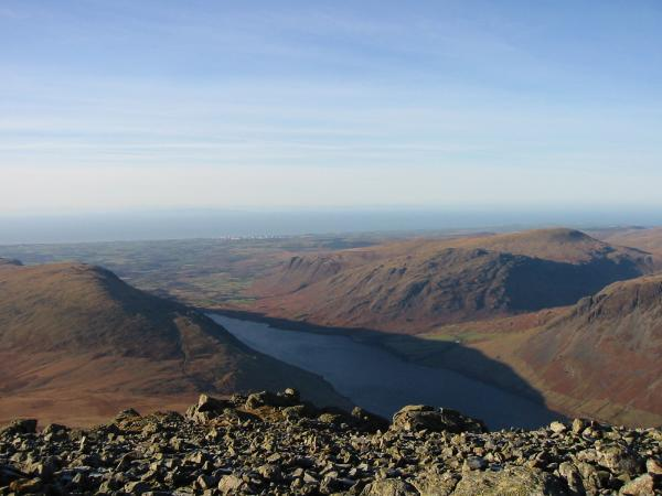 Wastwater from Scafell's summit