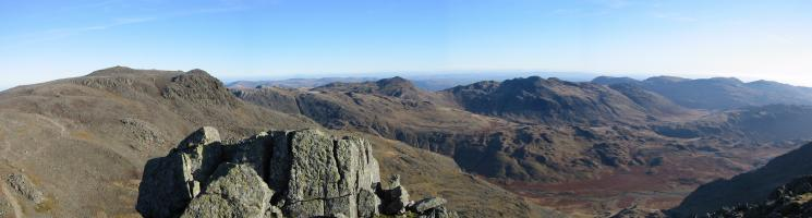 Scafell Pike to the Coniston Fells from Scafell