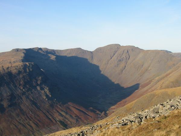 Mosedale ringed by Yewbarrow, Red Pike, Scoat Fell (behind Red Pike), Black Crag, Pillar and Looking Stead