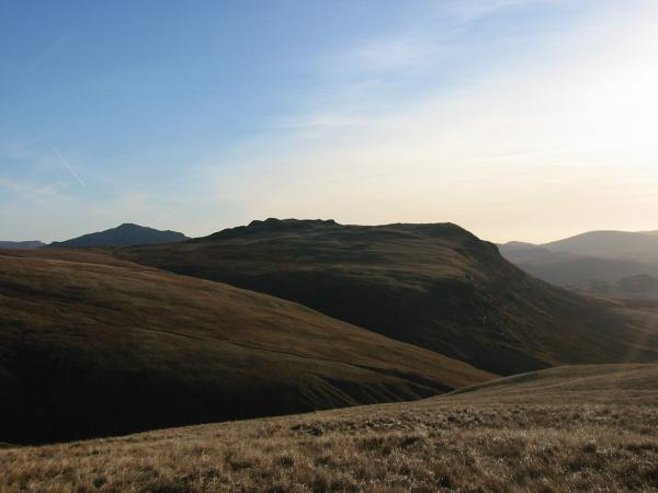 Great How with Harter Fell, Eskdale in the distance on the left