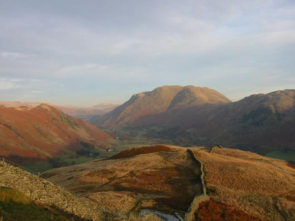 Looking back down the ridge to Place Fell