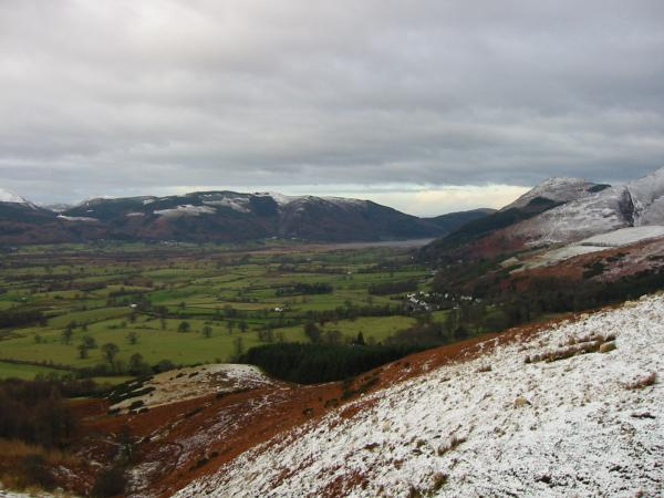 The Vale of Keswick, looking towards Lord's Seat and Barf