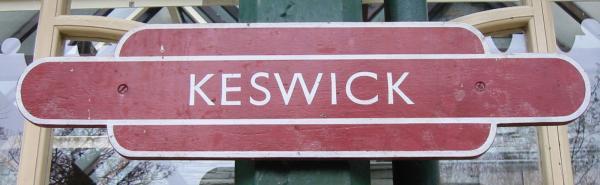 Keswick Railway Station sign